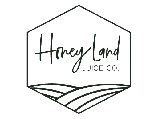 honey land juice co all black logo