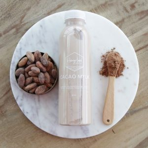 cacao mylk bottle from honey land juice co